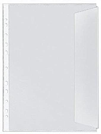 Standardlochung, A4, PVC-Folie, leicht genarbt, 0.12 mm Rexel 226784 Dokumentenh/ülle mit Klappe