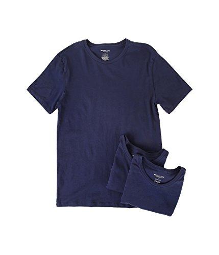 1579d101fc802 Michael Kors Men s Essentials Crew Neck T-Shirt 3-Pack Navy Multi Underwear