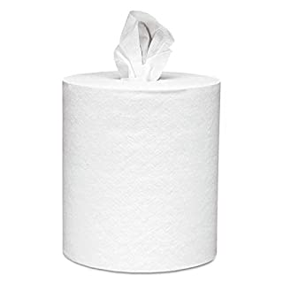 Scott Essential Roll Control Center Pull Paper Towels (01032) with Fast-Drying Absorbency Pockets, Perforated Full-Sized Hand Paper Towels, White (6 Rolls per Case, 4,200 Sheets Total)
