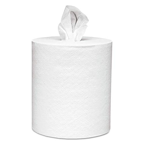 Scott Essential Roll Control Center Pull Paper Towels (01032) with Fast-Drying Absorbency Pockets, Perforated Full-Sized Hand Paper Towels, White (6 Rolls per Case, 4,200 Sheets Total) ()