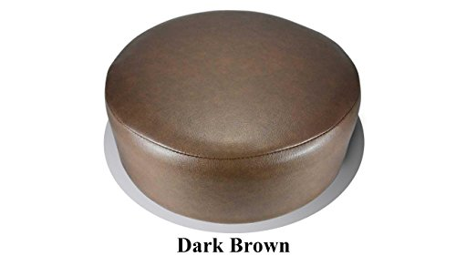 Bar Stool Cover Replacement Staple On Seat Top Made with Heavy Duty Commercial Grade Vinyl (15 inch Diameter, Dark Brown)
