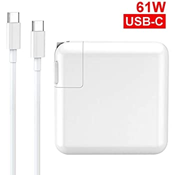 Amazon.com: Mac Book Pro Charger, 61W USB-C To USB-C Ac ...