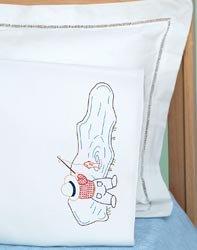 Bulk Buy: Jack Dempsey Children's Stamped Pillowcase With White Perle Edge 1/Pkg Fisher Boy (2-Pack) - Edge Pillowcases