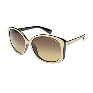 Eagle Eyes OH JACKIE Womens Polarized Sunglasses, Black/Beige Frame, Gradient Lens