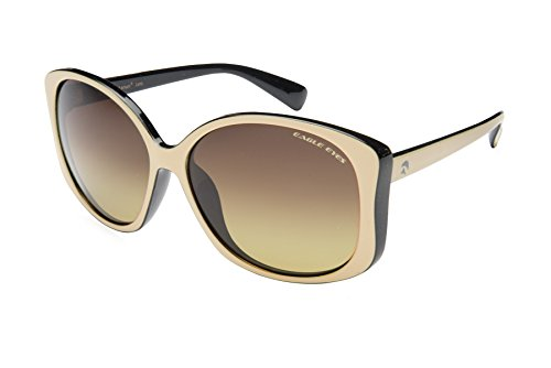 Eagle Eyes OH JACKIE Womens Polarized Sunglasses, Black/Beige Frame, Gradient - Sunglasses Triple H