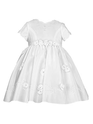 Christening Louise Sarah Dresses - Sarah Louise White Rosette Ceremonial Dress (White, 12 Months)