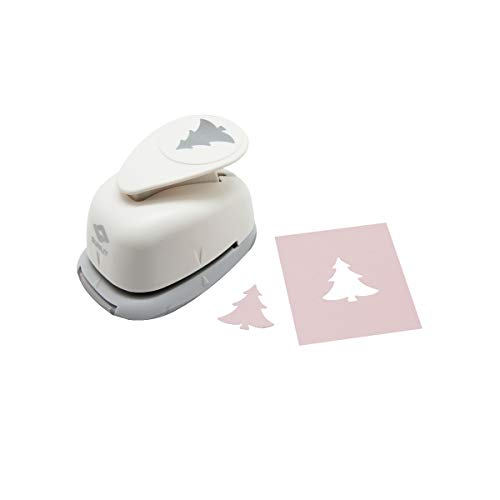 Bira 1 inch Fir Tree Shape Lever Action Craft Punch for Paper Crafting Scrapbooking Cards Arts (Christmas Tree Punches)