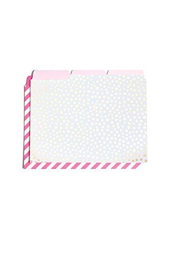 ban.do design Get It Sorted File Folder Set - Petite Party Dots + Ticket Stripe (53214)