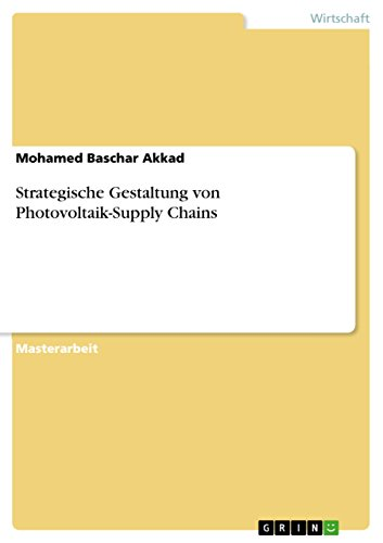 Strategische Gestaltung von Photovoltaik-Supply Chains (German Edition) (Solar Supply Chain)
