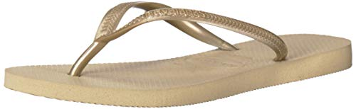 Havaianas Women's Slim Sandal,Sand Grey/ Light Gold,37/38 BR (7-8 M US) by Havaianas