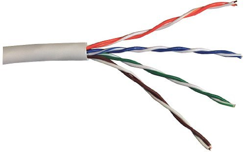 1000 ft 4pr 24AWG General Cable GenSPEED 5350 Cat5e Riser Cable White