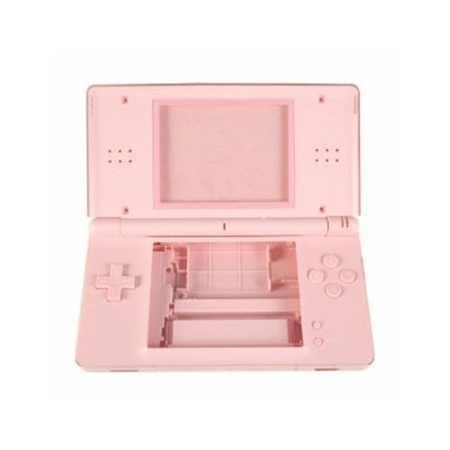 Pink Housing Shell Cover Case Full Set Replacement For NDSL Nintendo DS Lite Game Console with Button Kit Full Set