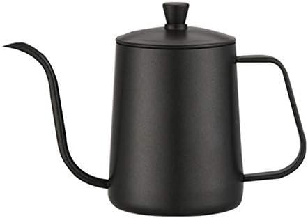 コーヒーケトル コーヒーポットは、初心者コーヒーブラックコーヒーケトルグースネックコーヒーメーカースパウト標準ハンドドリップ600ミリリットルを注ぎます ドリップポット (色 : Black, Size : 600ml)