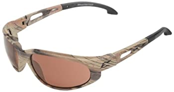 """Edge Eyewear SW115CF Dakura Safety Glasses, Camouflage with Copper """"Driving"""" Lens"""