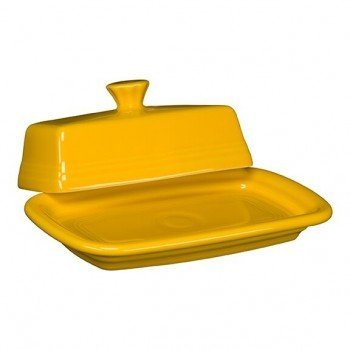 Homer Laughlin 1431-342 Extra Large Covered Butter Dish Daffodil