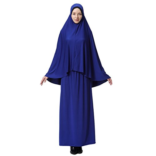 Murci Musulmanas Mangas Ai moichien Piezas Dos Con Hijab Mujeres Thobe qUOwgHP