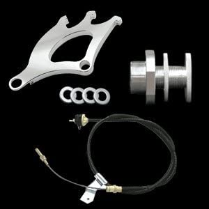 UPR 1996-2004 Mustang Clutch Cable Quadrant /& Firewall Adjuster Kit