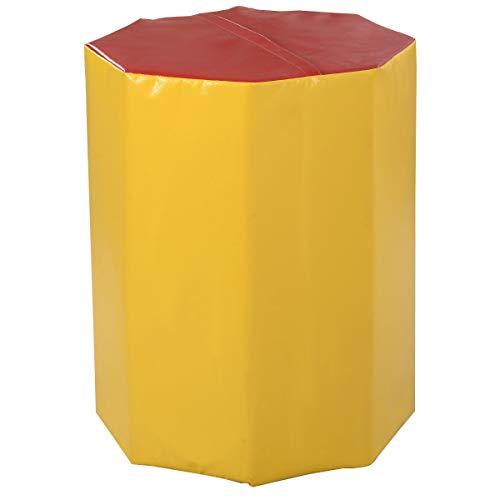 Red/Yellow 25″ x 30″ Kids Octagon Skill Shape Gymnastics Mat Preschool Gym w/Non-Toxic with Ebook