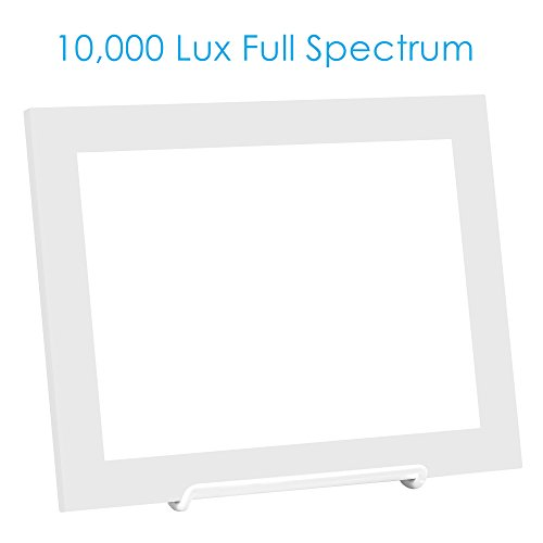 Charmax SLT002 10,000 LUX Light Therapy Lamp, Bright White Full Spectrum LED Light Box, Slim Energy Light Lamp,10.3 x 7.8 inch, White