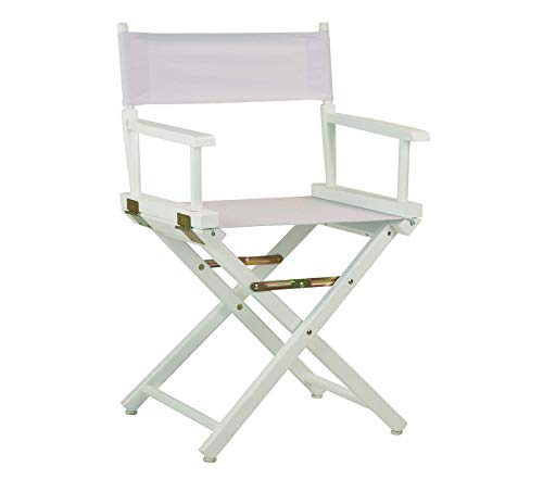 - Wood & Style Office Home Furniture Premium 18 Director's Chair White Frame with White Canvas