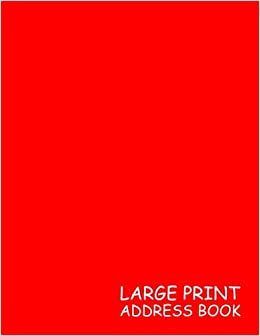 picture relating to Printable Address Book Pages named Heavy Print Go over Guide: Purple, 3 Covers for each Web page - 300