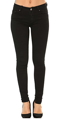 jeans Nero da slim slim Donna 42 denim boyfriend a Risvolto bootcut pantaloni 34 skinny straight 6dzwxw