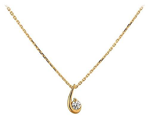 Orleo - REF12085BB : Collier Femme Or 18K jaune et Oxyde de zirconium