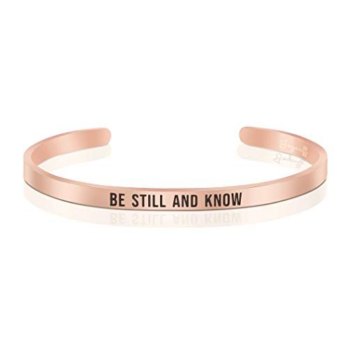 Joycuff Religious Bracelet Be Still and Know Inspirational Christian Jewelry Gifts for Her ()