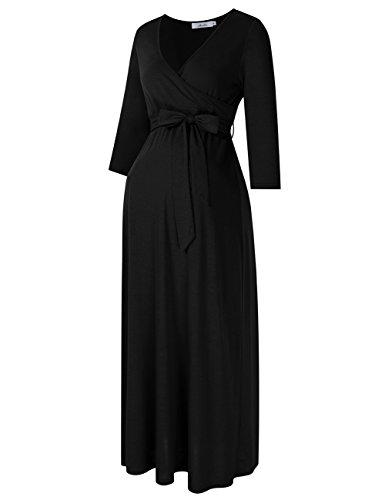 long black maternity maxi dress - 5