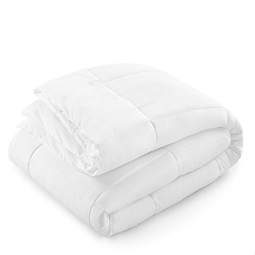 Danjor Linens Luxury Soft All Season White Down Alternative Comforter- Hypoallergenic, Box Stitched- Plush Microfiber fill, Machine Washable, Duvet Insert Queen Size by Danjor Linens (Image #2)'