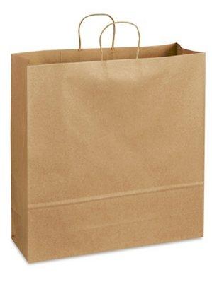 再生紙ショッピングバッグ – 18 x 7 x 18 3 4インチ、ジャンボ   B071J1MHW2