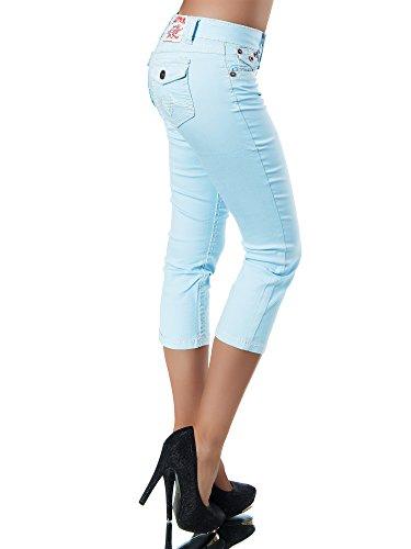 Capri Damen Damenjeans Dicke Ciel Bleu Bermuda Naht K900 Jeans Inconnu Caprijeans Hose Caprihose qZwXw