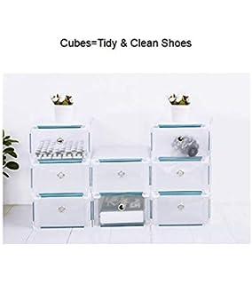Boîte à chaussures, rangement pour chaussures, chaussures 8PCS Boîtes à  chaussures pliables et empilables 69a1285f1f5d
