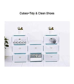 Caja de zapatos, Almacenamiento de zapatos, Caja de almacenamiento de zapatos 8PCS Cajas de
