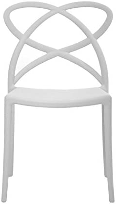 46x49x81 cm Fashion Commerce 01-FC908 Polipropilene Bianco 1 sedia