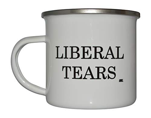 Funny Liberal Tears Camp Mug Enamel Camping Coffee Cup Gift Conservative Republican