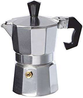 takestop® Cafetera 3 Tazas Taza Espresso napolitano Aluminio ...