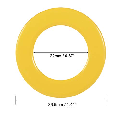 uxcell 15pcs 22 x 36.5 x 11mm Ferrite Ring Iron Powder Toroid Cores Yellow White by uxcell (Image #2)
