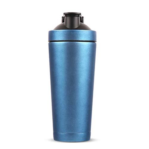 Ltd Ice - V2 Co.Ltd Ice Shaker Stainless Steel Protein Shaker Bottle, Shaker Bottle Sports Cup, Stainless Steel Shaker Cup, Leak Proof, BPA Free (Blue)
