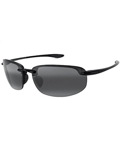 Maui Jim Lunettes de Soleil Hookipa 407-02 Gloss Black Grey Polarized