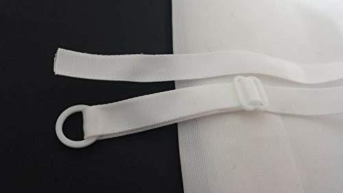 4 Pair White Bra Satin Straps Ribbon 3/8sew on only #ID-426