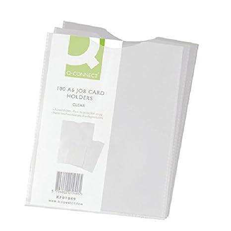 100 Job Card Pockets A7 Clear Pockets Thumb Cut A5 A6 50 Qty 10 25 A4