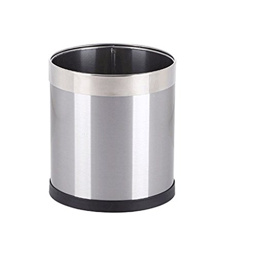 JHEY Stainless Steel Trash can Living Room Bedroom Toilet Kitchen Office uncovered Sanitary Bucket (Color : B, Size : 8L) ()
