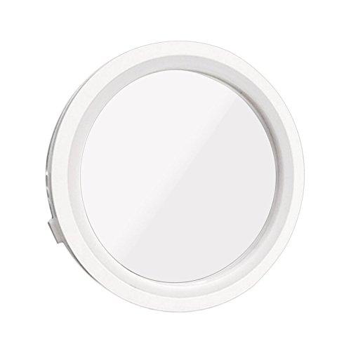 Espejo de maquillaje portátil de rotación de 360 grados 8X Ampliación de 6 LED de luz brillante Espejo de maquillaje desmontable magnético Lovelysunshiny