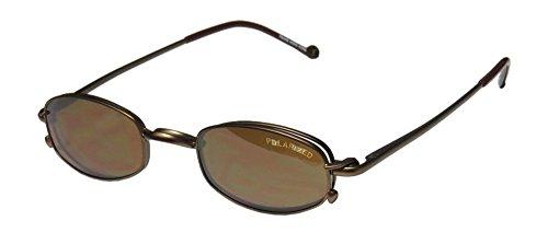 Smart Clip 802 Mens/Womens Prescription Ready For Adults Designer Full-rim Flexible Hinges Sunglass Lens Clip-Ons Eyeglasses/Eye Glasses (46-21-140, Khaki)