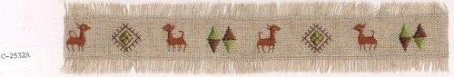 Southwestern Tribal Argyle Deer Canvas Embroidery Applique Patch - Argyle Deer