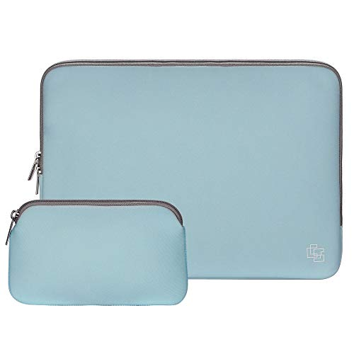 11 Inch Laptop Sleeve Neoprene Bag for MacBook Air Sleeve 10 Inch Water-Proof Tablet Sleeve Bag Case Laptop Sleeve 11 Inch | Waterproof Computer Case with Small Bag (Blue/Grey) ()