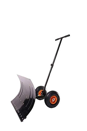 MD Sales Force Premium Snow Shovel, Wheeled Snow Pusher, Durable Wheeled Snow Pusher – Time and Energy Saving Snow Removal Tool