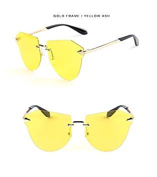 Shishanyun Gafas de Sol niño Moda Niños Polaroid Gafas de Sol Niños Niñas Niños Gafas de bebé UV400 Espejo Flecha sin Marco Ojo de Gato Gafas de Sol ...