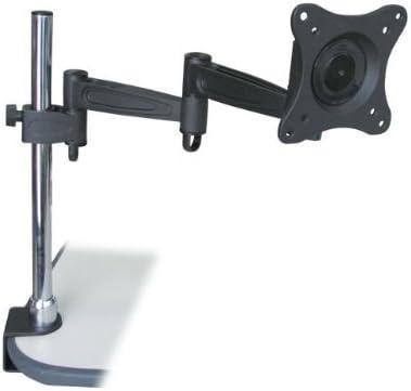 3-Way Computer Monitor Desk Dual Mount Swing Arm Adjustable Tilting Swivel LED